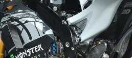 La Yamaha M1 de Valentino Rossi lors des tests de Sepang.