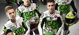 Alvaro Bautista (MotoGP), Bryan Staring (MotoGP CRT), Niccolò Antonelli et Lorenzo Baldassari (Moto3).