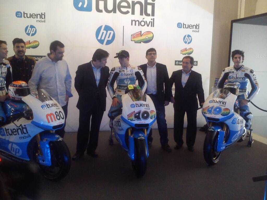 Le team Tuenti HP 40 Moto2.