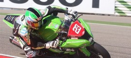 Christophe Ponsson sur sa ZX-10R du Team Morillas Racing School.