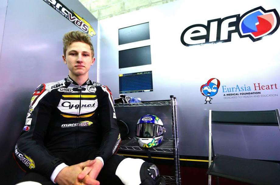 Jules Danilo dans le box du Team Marc VDS pour ce GP de France au Mans. (Source : Team Marc VDS)