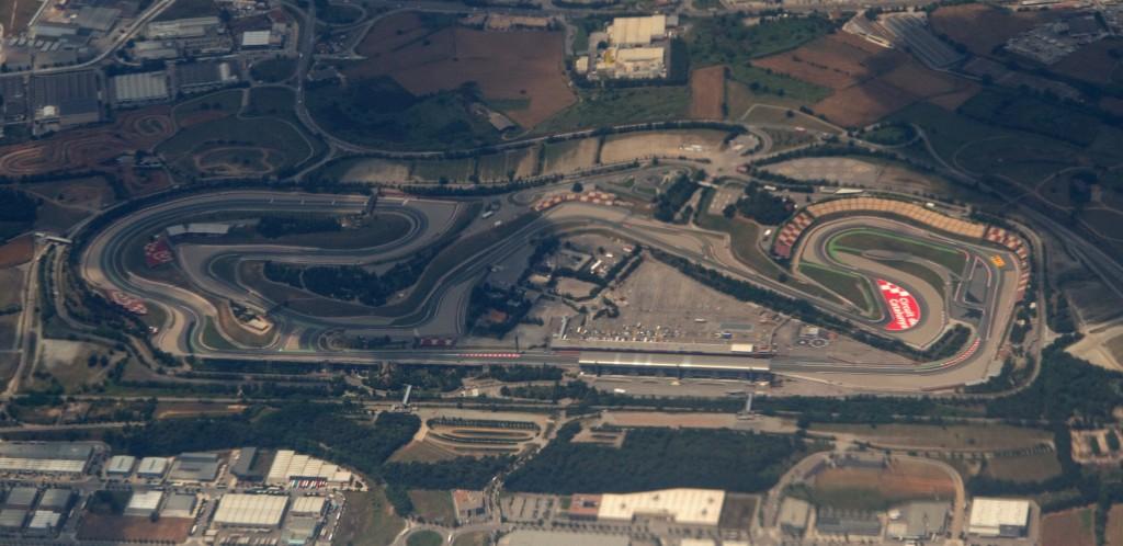 Vue aérienne du circuit de Catalunya
