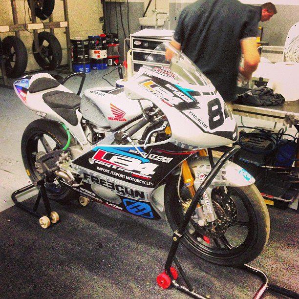 Les nouvelles couleurs de la Honda TSR de Loris Cresson pour Magny-Cours. (Photo : Loris Cresson).