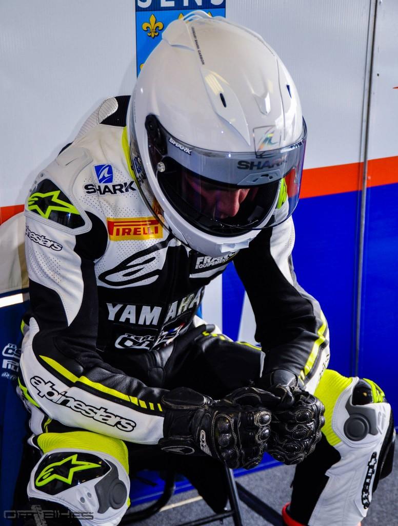 Malgré ses difficultés aux essais, Maxime Cudeville à la porte du podium en Course 1.  (Photo : ©OffBikes)