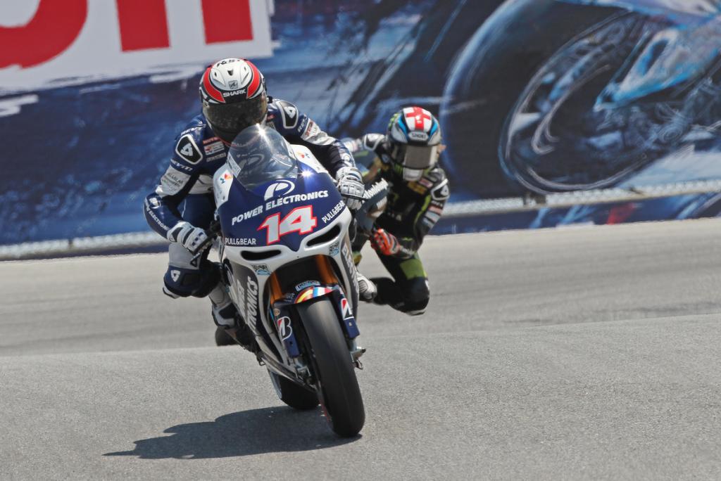 Parmi les 2 qualifiés de la Q1, Randy de Puniet chute au tout début de la Q2 avec des pneus froids. (Photo : Team Aspar)