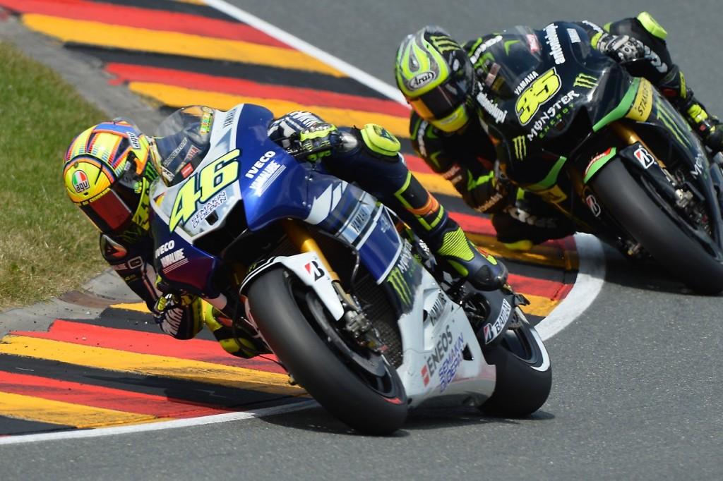 Valentino Rossi, 3ème à l'issue de la course, victime de problèmes de pneu. (Photo : Yamaha MotoGP).