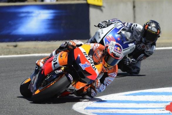 Casey Stoner sera le vainqueur devant Jorge Lorenzo lors de la course MotoGP du GP des Etats Unis en 2012 (photo : motosblog)