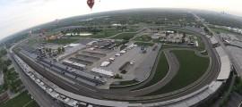 Vue aérienne de l'International Speedway à Indianapolis