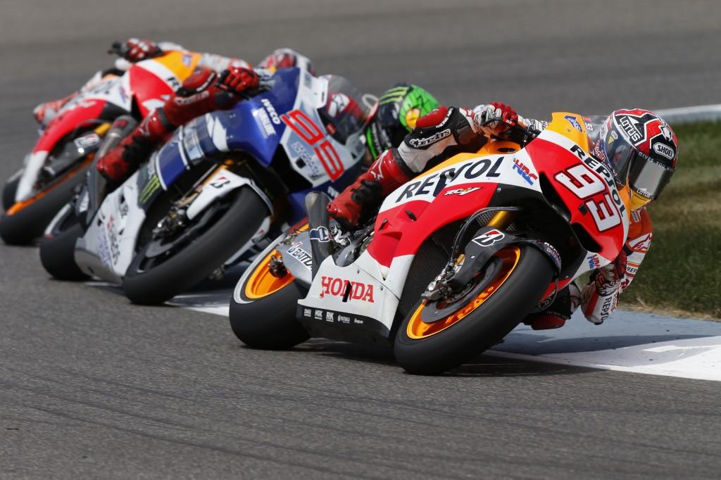 Marc Marquez, intouchable ce week-end. Troisième victoire consécutive et 4 victoires depuis le début de la saison. (Photo : Repsol Honda).