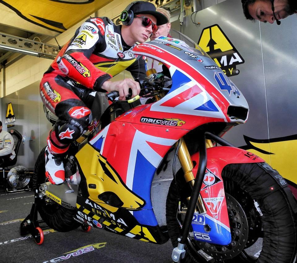 Les couleurs de Scott Redding pour son GP à domicile. Il devra se contenter la 2ème position sur la grille. (Photo : Team Marc VDS).