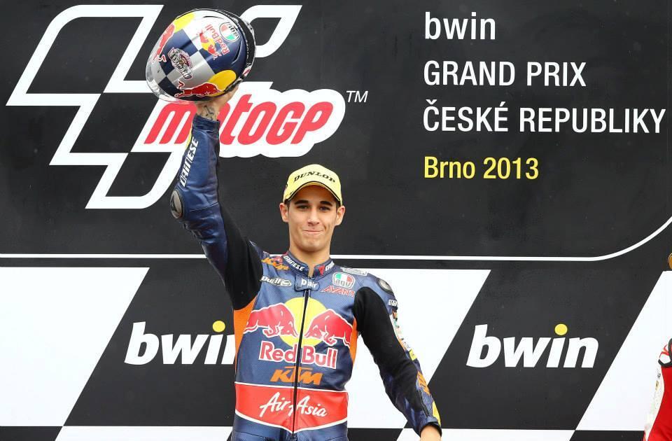 Luis Salom, blessé, mais victorieux à Brno. (Photo : Ajo Motorsports).