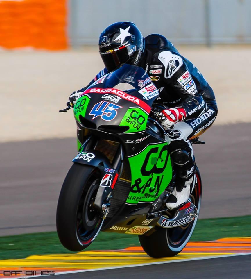 Malgré un poignet douloureux, Scott Redding a réalisé 34 tours aujourd'hui et 23 hier sur la Honda Production Racer. (Photo : Thomas/OffBikes).
