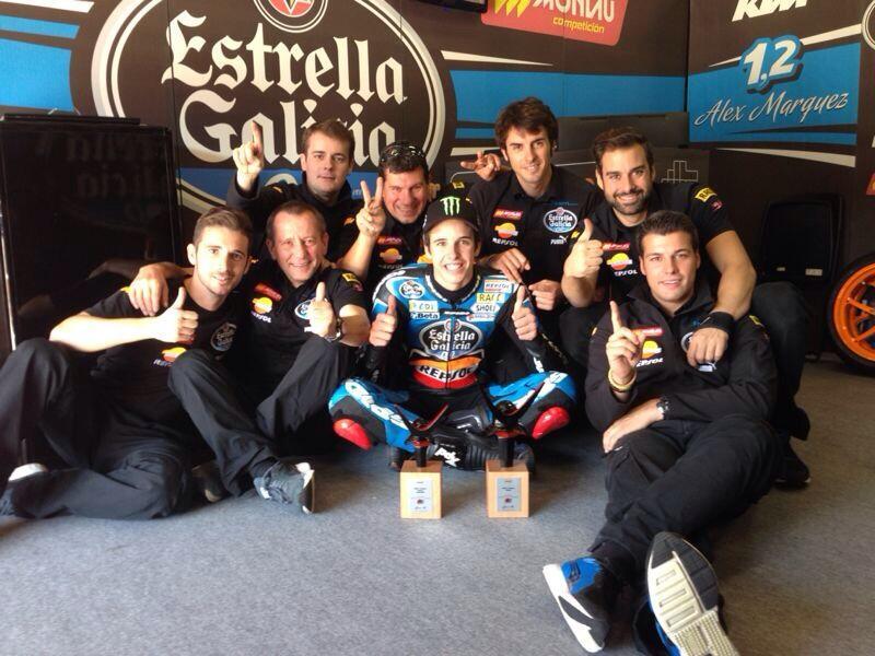 Première victoire pour Alex Marquez en championnat du monde. (Photo : Estrella).