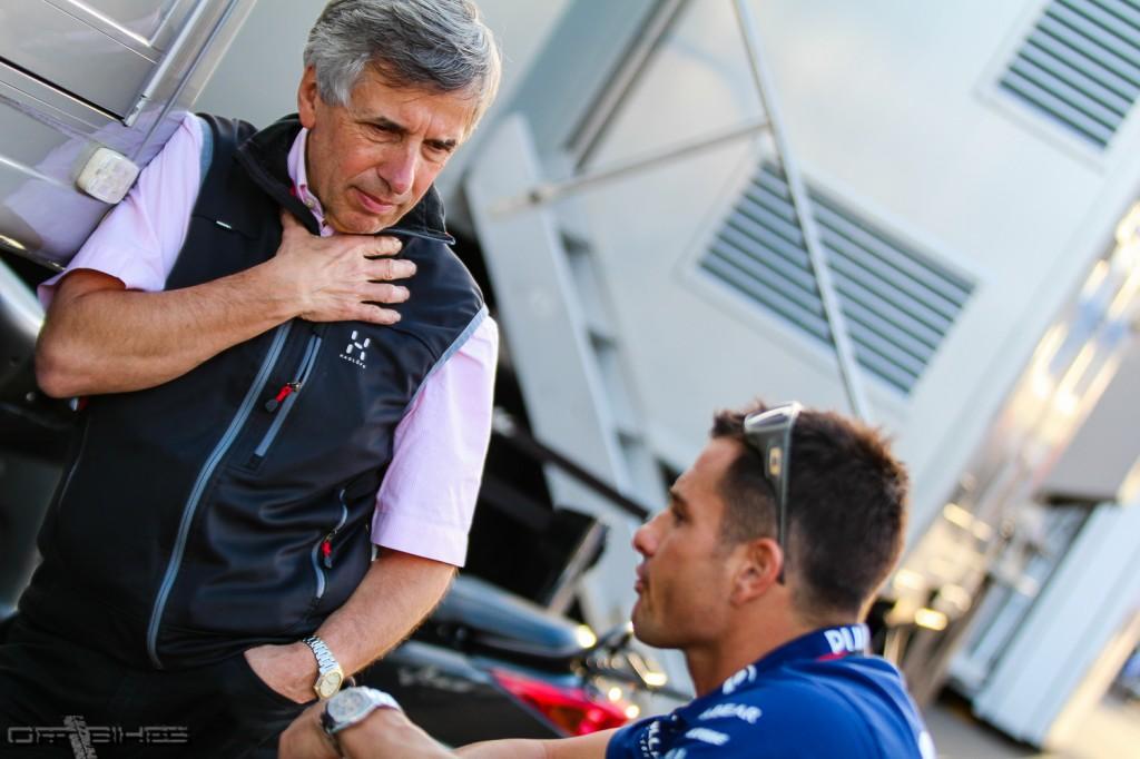 Claude Michy à Valencia. Le promoteur du GP de France souhaite des Français en MotoGP.  (Photo : Thomas/ OffBikes)