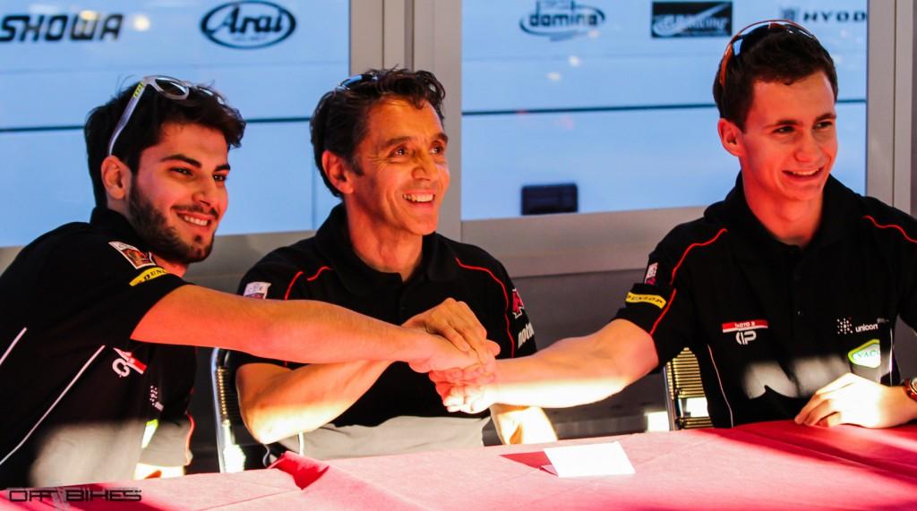 Alessandro Tonucci, Alain Bronec et Bryan Schouten, ensemble pour 2014. (Photo : Thomas/OffBikes).