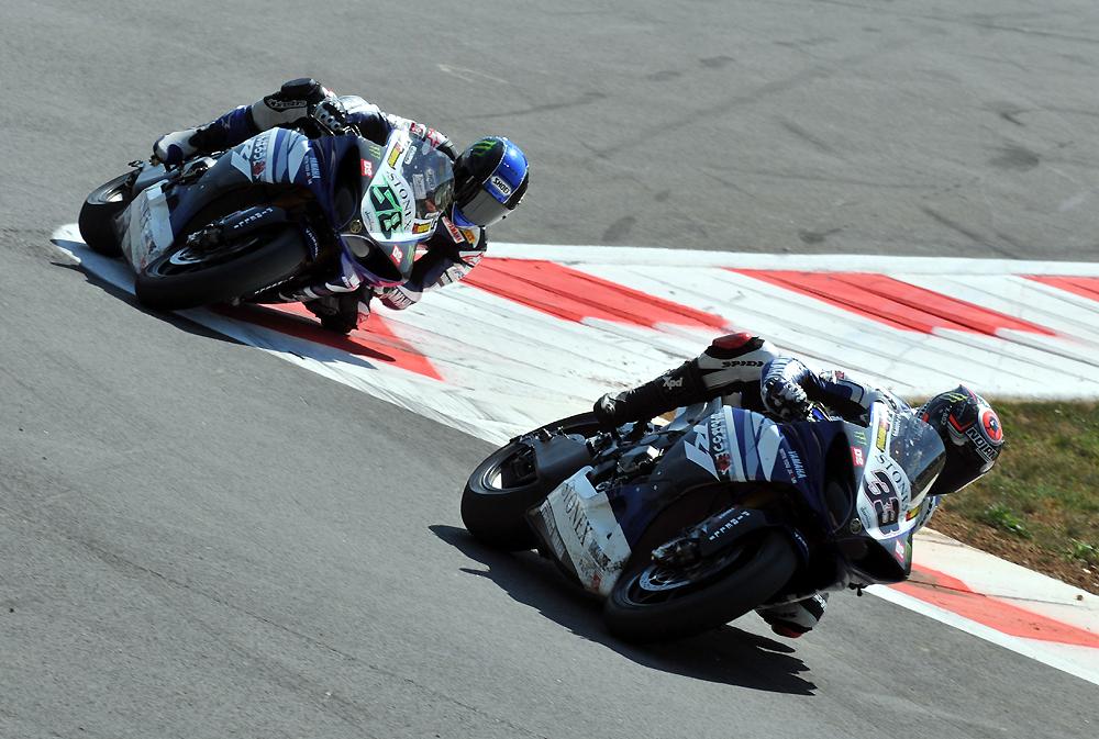 L'usine Yamaha a laissé le Championnat du Monde Superbike en fin de saison 2011. Eugene Laverty et Marco Melandri étaient les pilotes officiels. (Photo : Yamaha Motor)