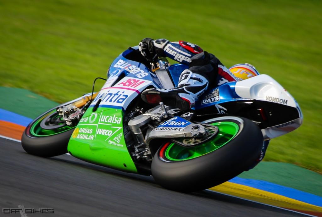 Mike prévoit de belles perspectives au sein de l'équipe Avintia MotoGP pour la saison 2014. (Photo : Thomas/OffBikes).