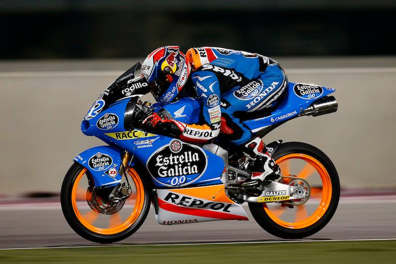 Sur la Honda, Alex Rins signe le pole position et prend le record du tour. (Photo : Estrella Galicia Team)