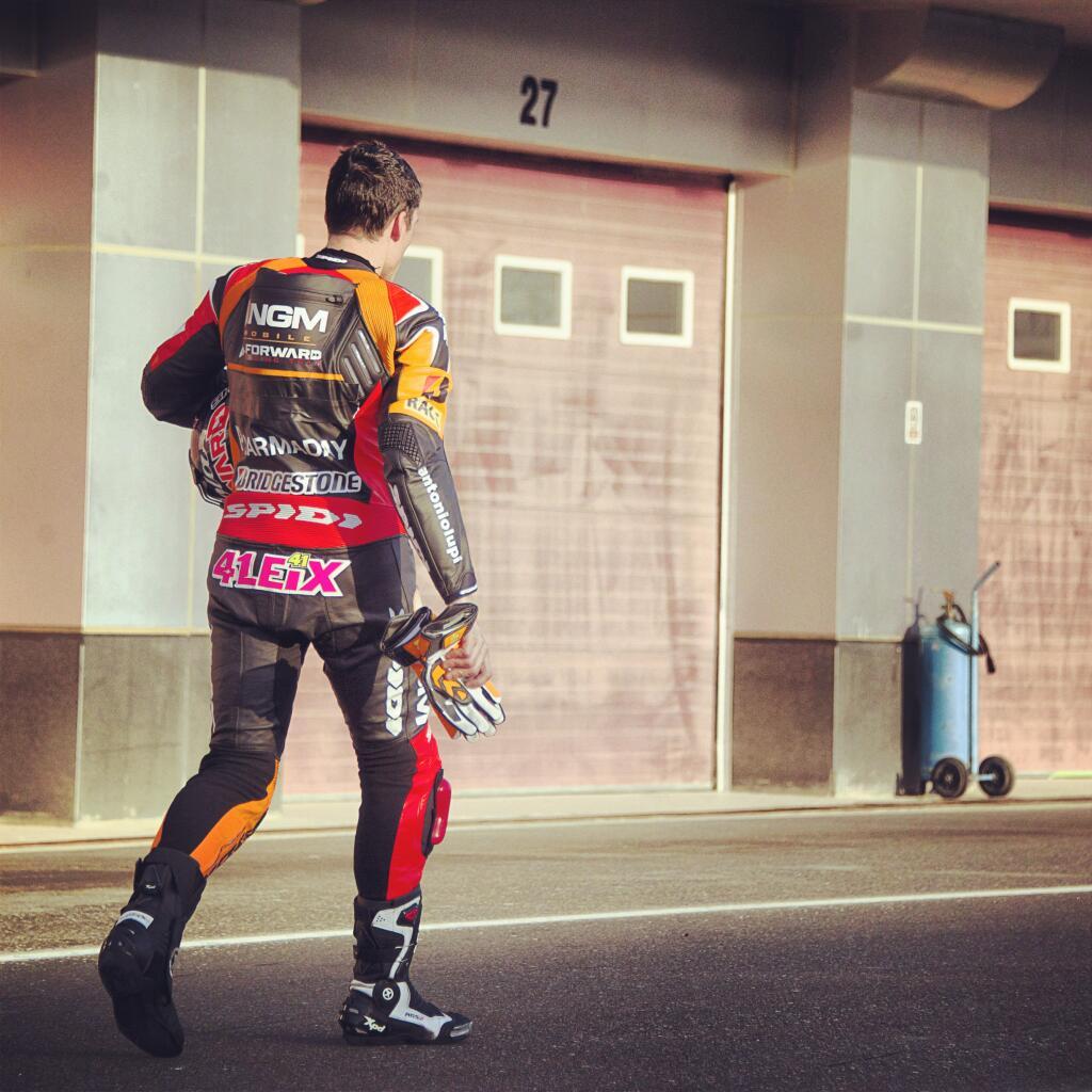 Aleix Espargaro a effectué sa simulation dans le rythme de course de Jorge Lorenzo en 2013. (Photo : Forward)