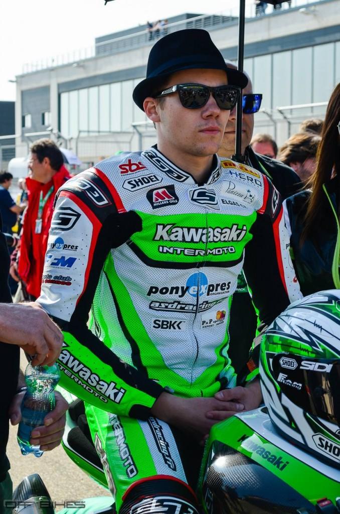 Florian Marino termine sur le podium à Aragón pour la deuxième fois de sa carrière en mondial Supersport. (Photo : OffBikes)