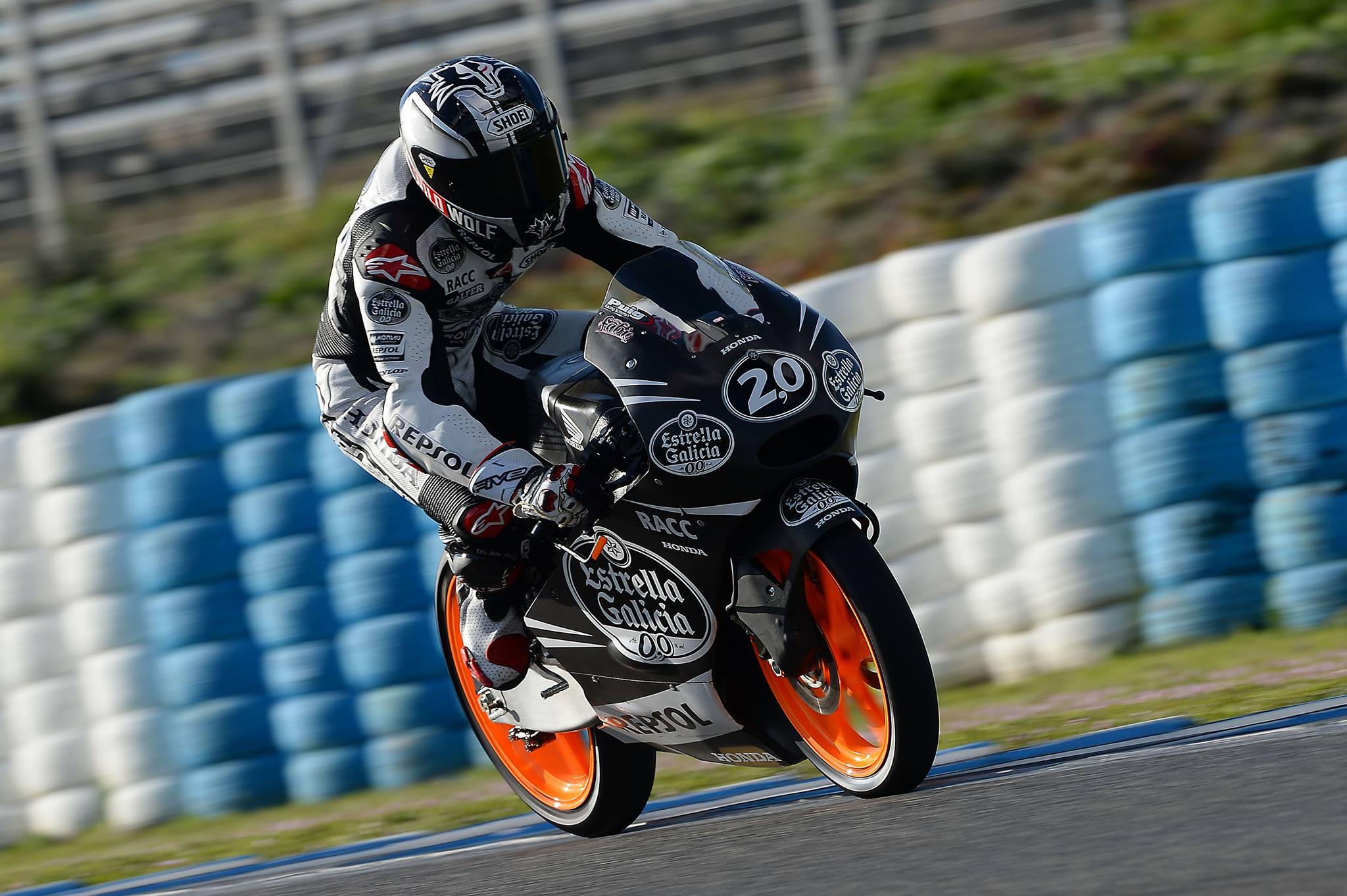 Fabio Quartararo, Champion en titre, lors du test IRTA Moto3 à Jerez en mars dernier. (Photo : Fabio Quartararo)