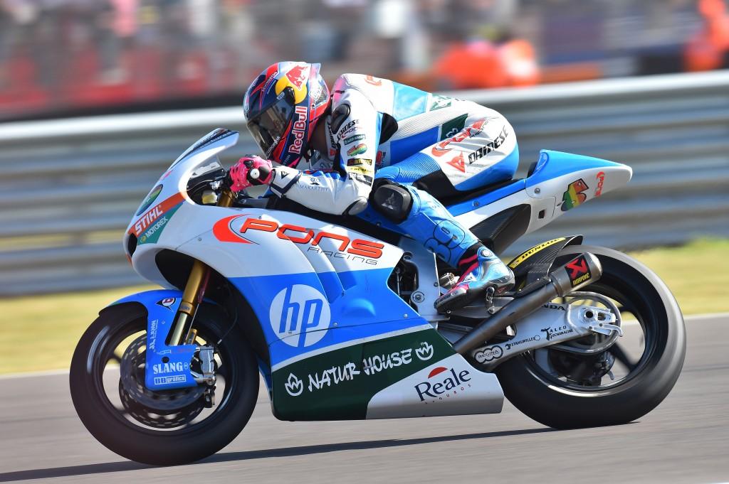 À l'instar de son coéquipier à Austin, Luis Salom s'empare de son premier podium Moto2. (Photo : Pons)