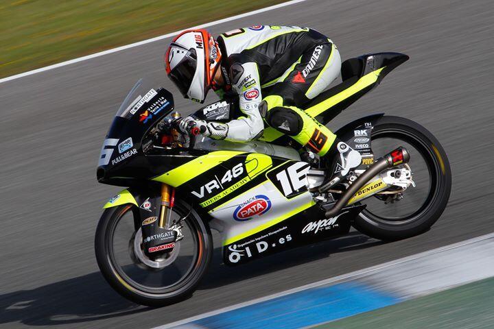 Andrea Migno termine sur le podium pour la seconde course Moto3. (© DR)