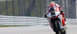 Johann Zarco a imposé son rythme dès la première séance libre. (Photo : Team Caterham Moto2).