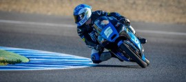 Romano Fenati en séance libre sur le tracé de Jerez. (Photo : ©OffBikes)
