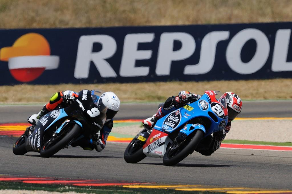 Fabio Quartararo a du lutter pour la victoire avec Jorge Navarro jusque dans le dernier tour. (Photo ; ©CEV Repsol)