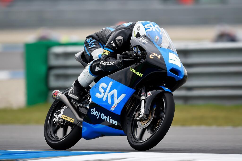 Romano Fenati s'élancera depuis la 9ème position sur la grille. Mais l'Italie reste le concurrent idéal pour la victoire. (Photo : Sky VR46).