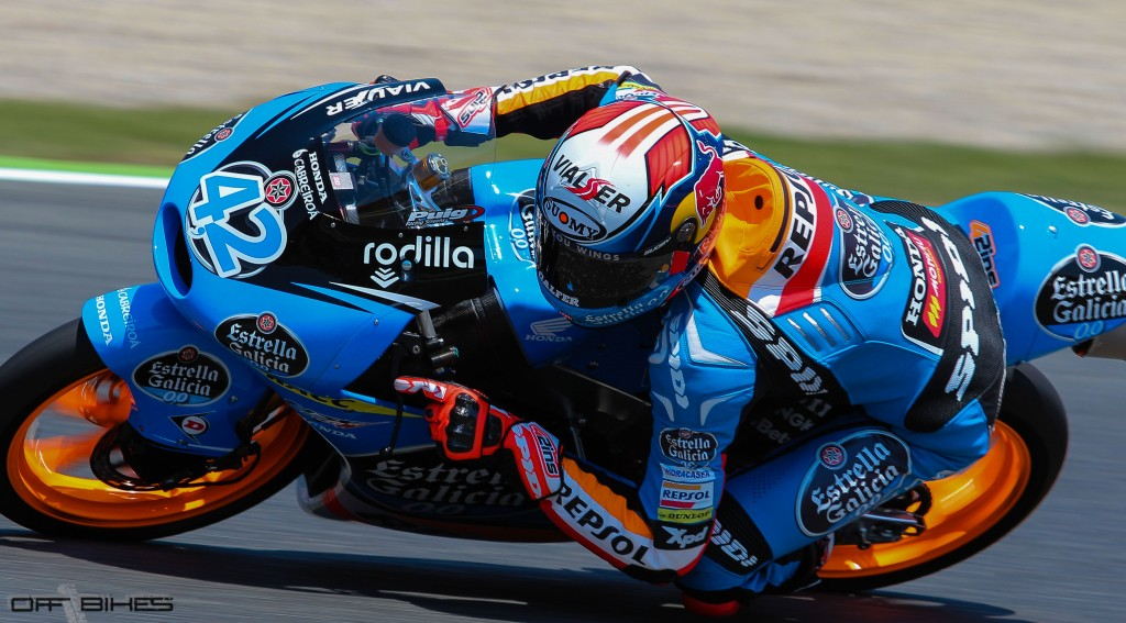 Alex Rins roulera au warm-up avant de décider sa participation en course. (Photo: Thomas/OffBikes)