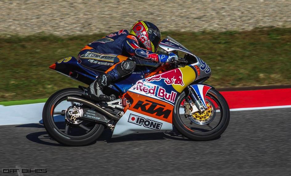 Enzo Boulom, 14ème pour de sa deuxième course en Red Bull MotoGP Rookies Cup. (Photo : Thomas/OffBike)