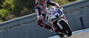 Michael van der Mark n'est qu'à un pas du titre de Champion du Monde Supersport 2014. (Photo : Honda PATA)