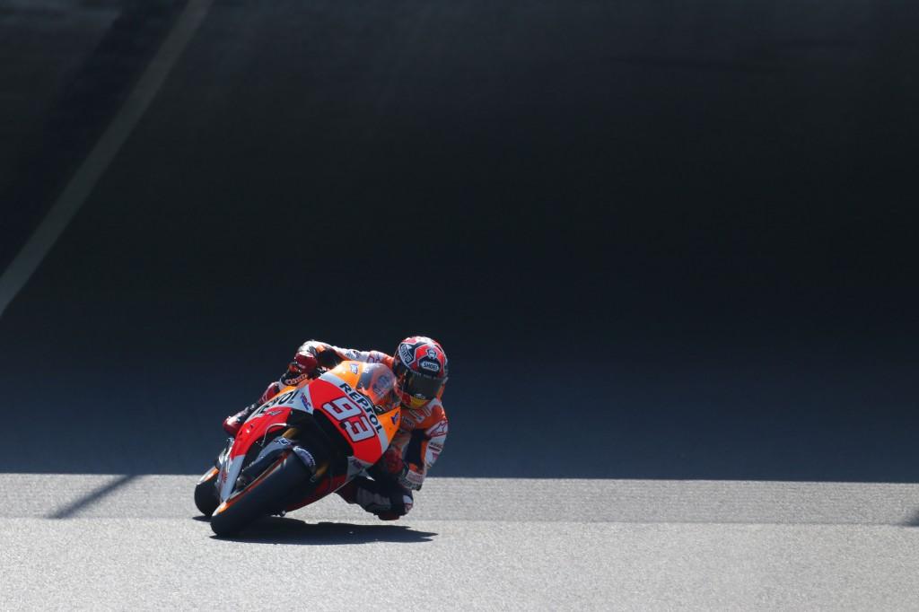Après sa chute du vendredi, Marc Marquez échoue au pied de la première ligne samedi. (Photo : Honda Repsol)