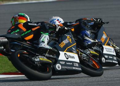 Sans guidon pour 2015, Efren Vazquez remporte sa deuxième victoire cette saison. Un passage en Supersport ? (Photo : RTG).