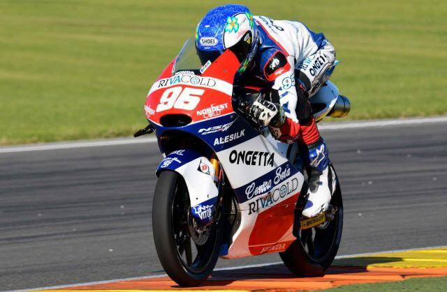 Jules Danilo sur la Honda Moto3 2014. Il découvrira la version 2015 lors du prochain test. (Photo : Ongetta Honda)