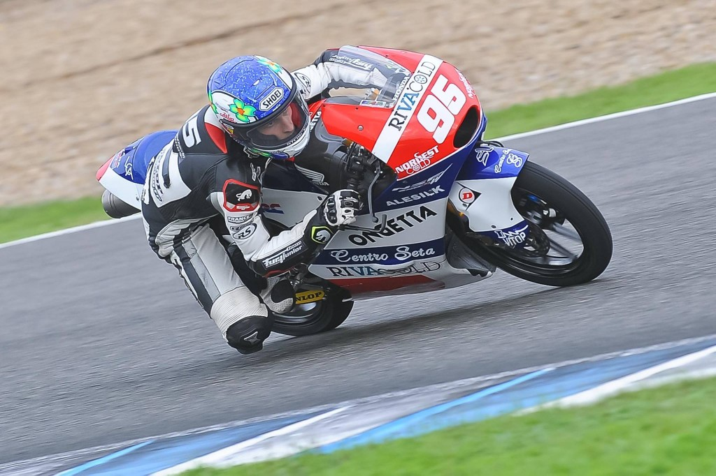 La pluie a perturbé le test de Jules Danilo à Jerez. (Photo : Ongetta Honda)