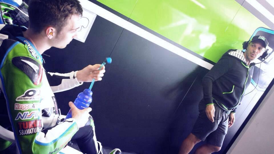 Depuis son arrivée en mondial Superbike, Christophe Ponsson est aidé par Fabien Foret. (Photo : Christophe Ponsson)