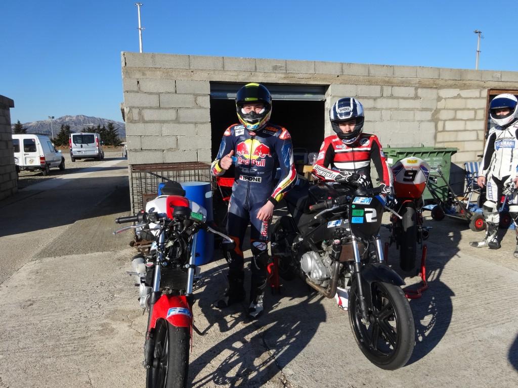 Enzo Boulom bénéficie du soutien d'Alain Bronec pour s'entrainer sur le circuit d'Eyguières. (Photo : Enzo Boulom)