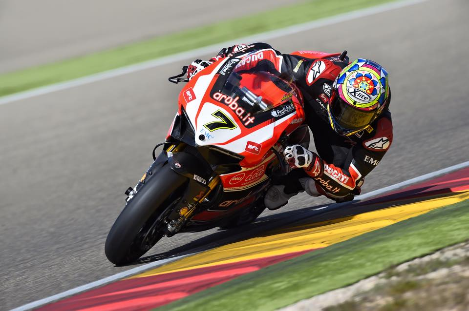 Chaz Davies a été régulier sur l'ensemble du week-end. (Photo : Ducati Team)
