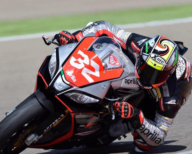 Lorenzo Savadori sera le favori logique demain. (Photo : Aprilia)