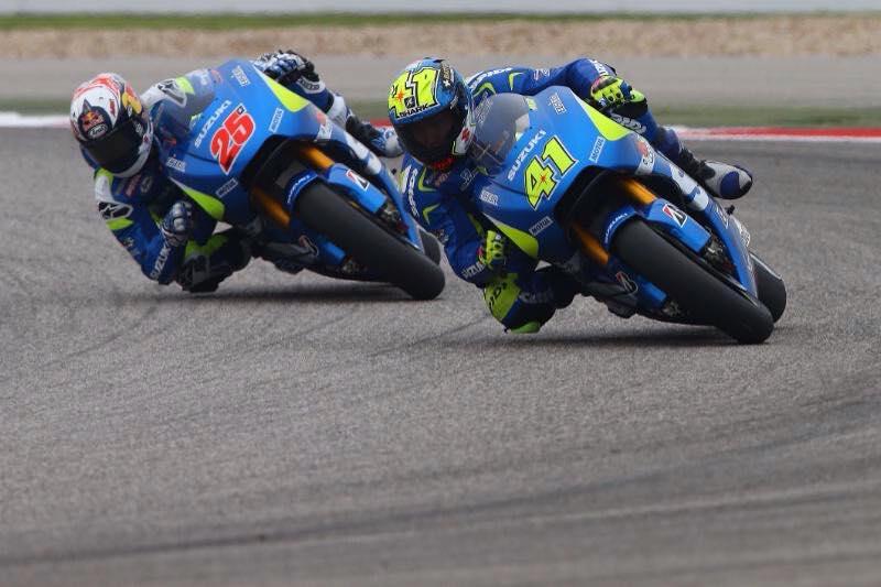 Aleix Espargaro place la Suzuki en tête de la première journée en Argentine. (Photo : Suzuki MotoGP)