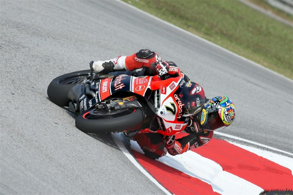 Chaz Davies remporte sa 4e victoire de la saison et retarde l'échéance de Jonathan Rea. (Photo : Ducati)