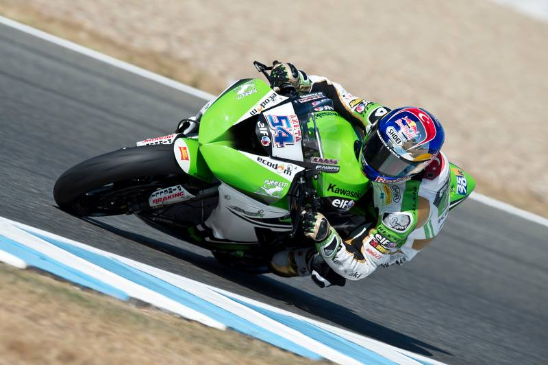 Kenan Sofuoglu signe la pole position à Jerez. (Photo : Kawasaki)