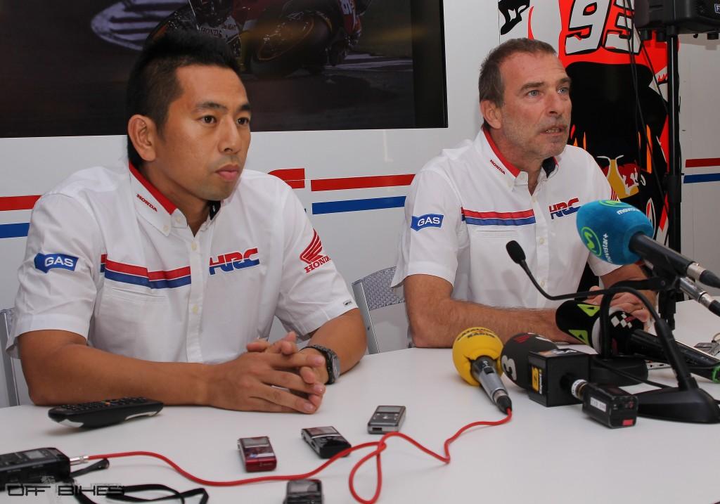 Takeo Yokoyama et Livio Suppo à Valencia.