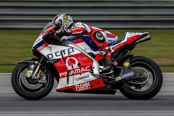Danilo Petrucci, leader de la seconde journée. (Photo : Ducati Octo Pramac)