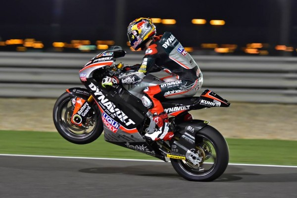 Jonas Folger en pole position au Qatar. (Photo : IntactGP)
