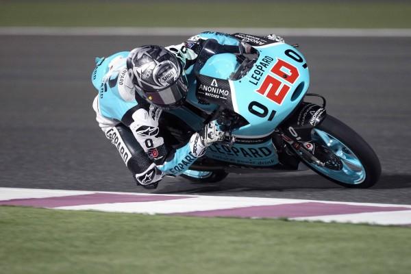 Fabio Quartararo place sa KTM en tête ce soir à Losail. (Photo : Leopard Racing)