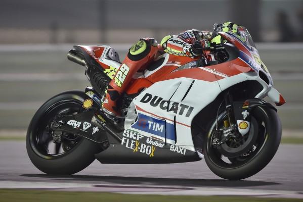 Andrea Iannone le plus rapide en piste (et en vitesse de pointe) à Losail. (Photo : Ducati)